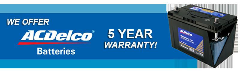 Ac Delco Battery Warranty >> Services Warranties